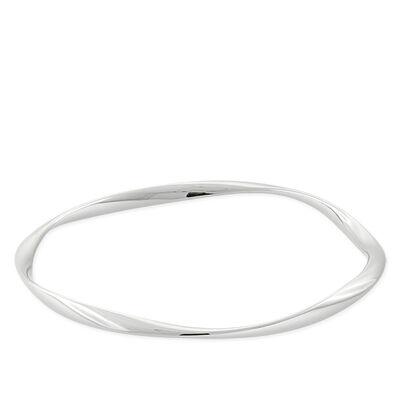 Lisa Bridge Twist Bangle Bracelet in Sterling Silver