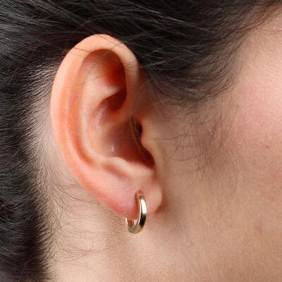 Huggie Hoop Earrings 14K