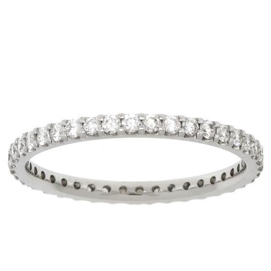 Diamond Eternity Band 14K, Size 6.5