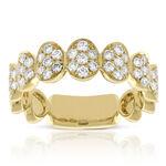 Oval Cluster Diamond Ring 14K
