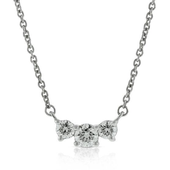 Diamond 3-Stone Necklace 14K