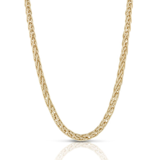 Toscano Solid Spiga Chain Necklace 18K