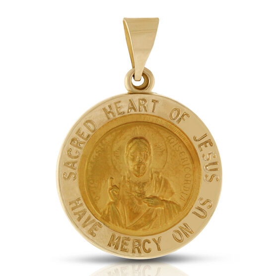 Sacred Heart of Jesus Medal 14K