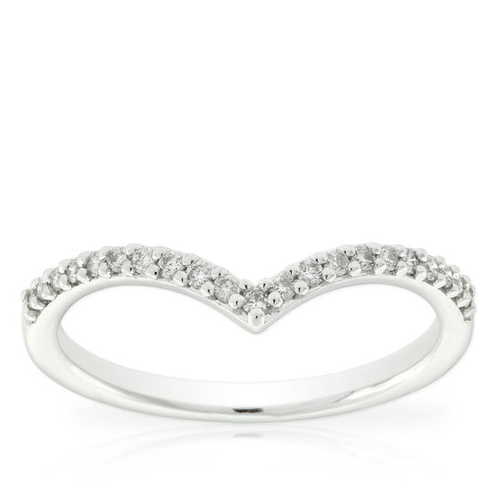 Diamond Chevron Midi Ring 14K