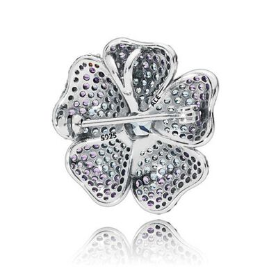 PANDORA Glorious Bloom Multi-Colored Crystals Brooch