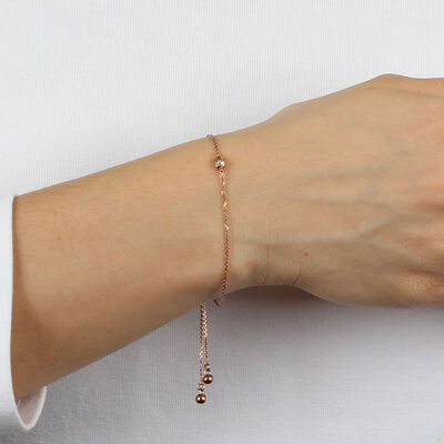 Rose Gold Ikuma Canadian Diamond Bolo Bracelet 14K, 1/4 ct.