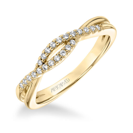 ArtCarved Diamond Split Design Wedding Band 14K