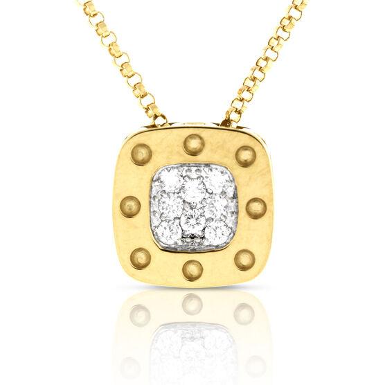 Roberto Coin Diamond Pendant 18K