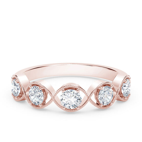 The Forevermark Tribute™ Collection Braided Five Stone Rose Gold Diamond Ring 18K