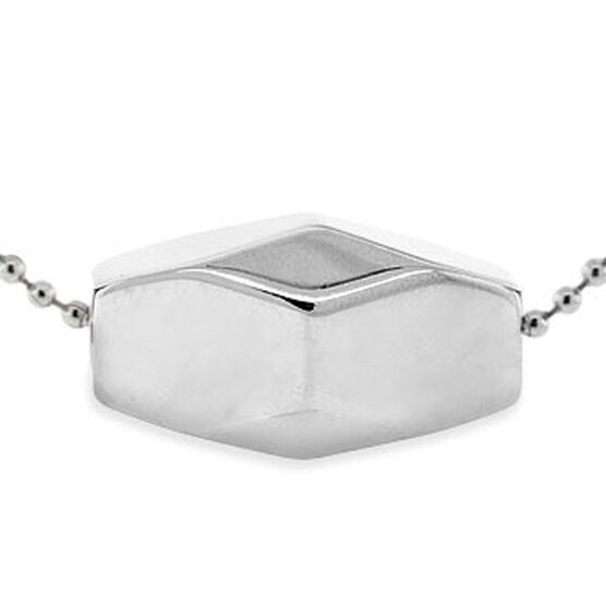Men's Tungsten Bead Necklace, Stainless Steel Chain