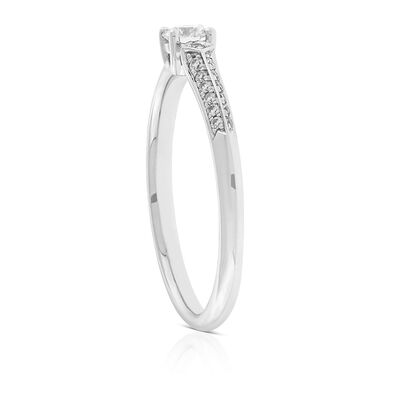 Jade Trau for Signature Forevermark Diamond Ring in Platinum