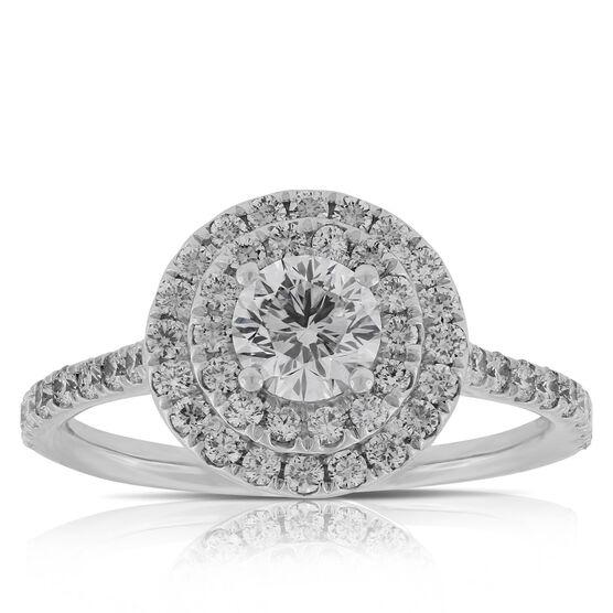 Signature Forevermark Diamond Halo Ring 18K