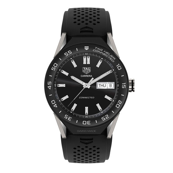 TAG Heuer Connected Watch, Black Rubber Strap