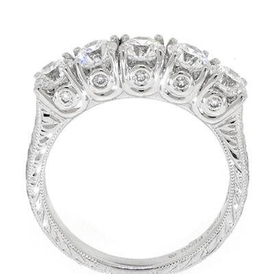 Ben Bridge Signature Diamond™ Ring in Platinum, 1 & 1/2 ctw.