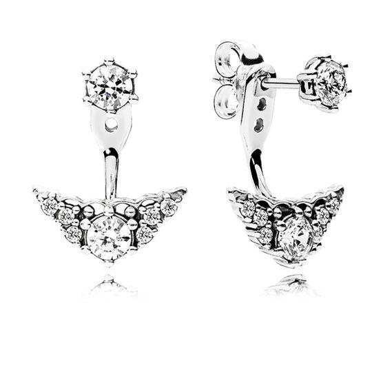 PANDORA Fairytale Tiara CZ Stud Earrings
