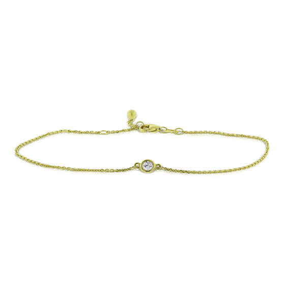 Bezel Set Diamond Bracelet 14K, 1/10 ct.