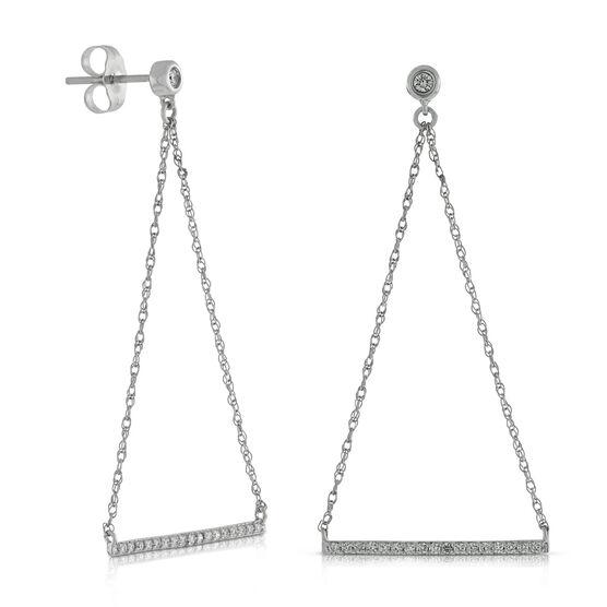 Swing Diamond Earrings 14K