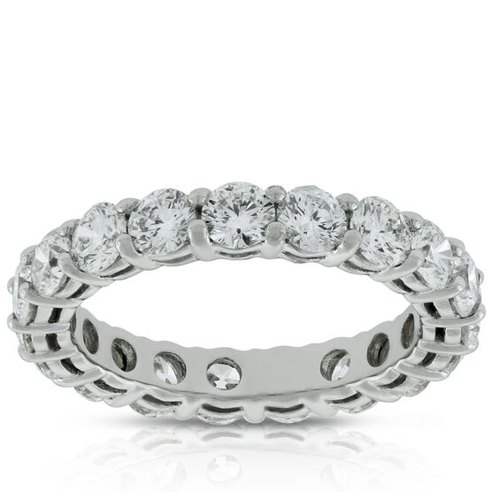 Diamond Eternity Band in Platinum, Size 6.5