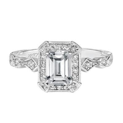 ArtCarved Georgina Diamond Semi-Mount Ring