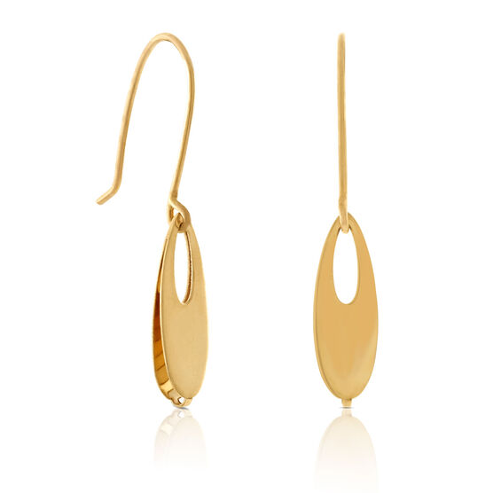 Open Teardrop Earrings 14K