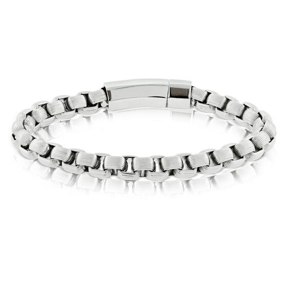 Ribbed Stainless Steel Bracelet