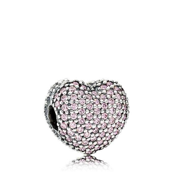 PANDORA Open My Heart CZ Charm