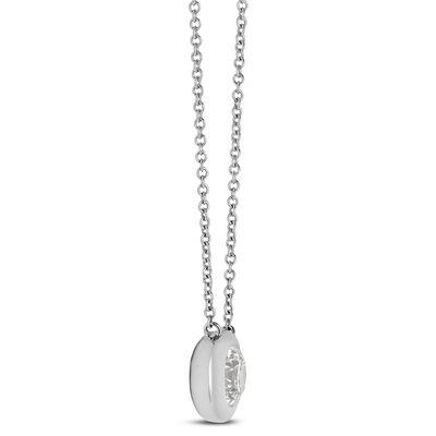 Bezel Set Diamond Necklace 14K, 3/4 ctw.