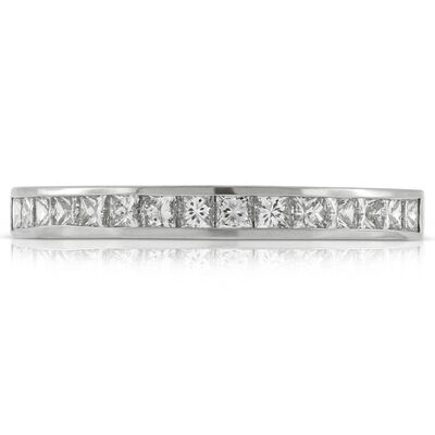 Princess Cut Diamond Band in Platinum