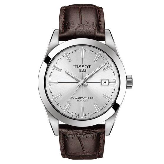 Tissot Gentleman Powermatic 80 Silicium Silver Dial Watch, 40mm