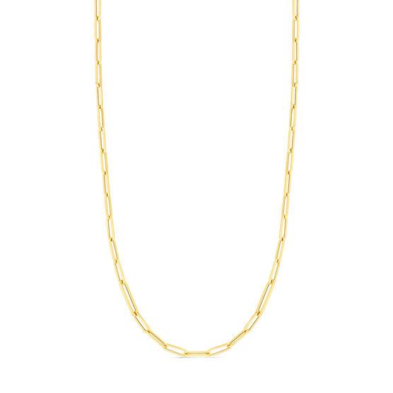 Roberto Coin Designer Gold Alternating Paperclip Necklace 18K