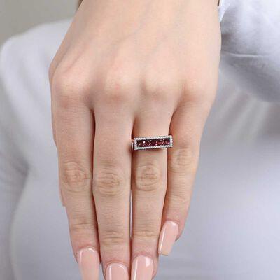 Rose Gold Pink Tourmaline & Diamond Rectangle Ring 14K