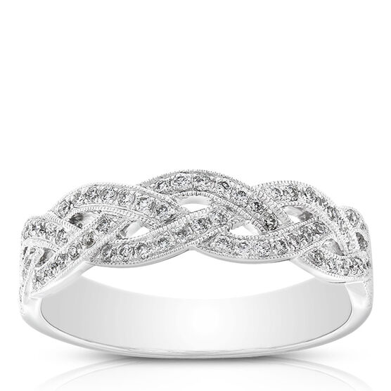 Braid Diamond Ring 14K