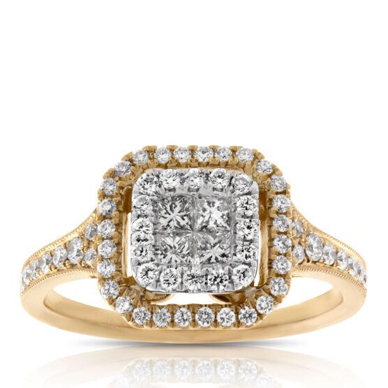 Pavé Diamond Ring 14K