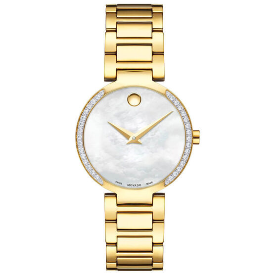 Movado Modern Classic Ladies Gold PVD Watch, 28mm