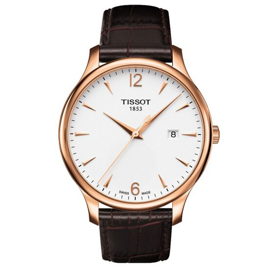 Tissot Tradition Rose PVD Watch, 42mm