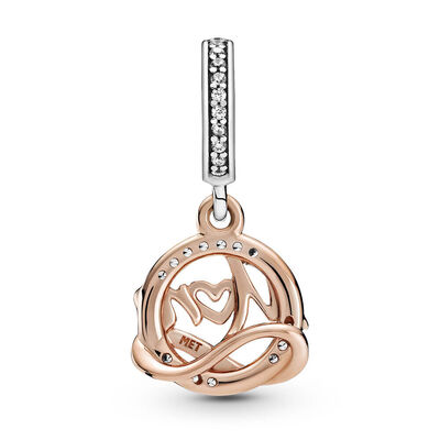 Pandora Rose™ Two-tone Mom CZ Dangle Charm