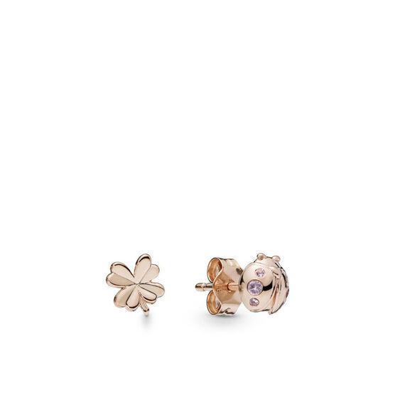 Pandora Rose™ Four Leaf Clover & Ladybird Crystal Earrings