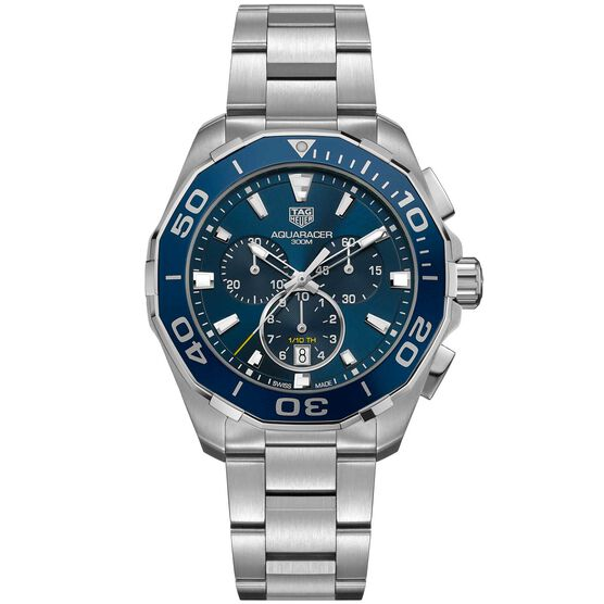 TAG Heuer Aquaracer Quartz Mens Blue Steel Chronograph Watch