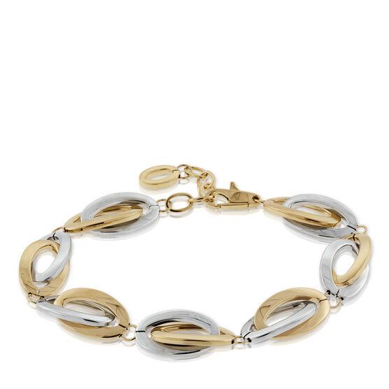 Toscano Double Link Oval Bracelet 18K