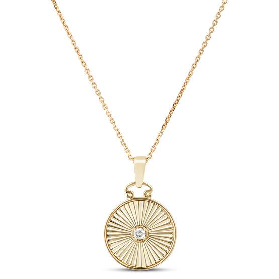 Ikuma Canadian Diamond Radiant Medallion Necklace 14K
