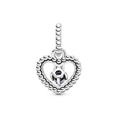 Pandora Purple Crystal Beaded Heart Dangle Charm