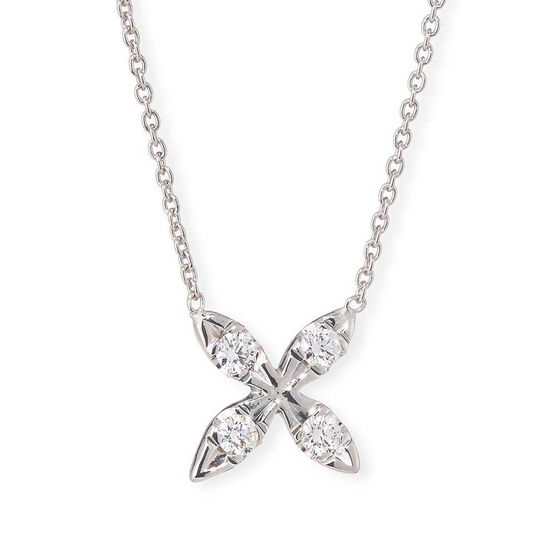 "Roberto Coin Tiny Treasures Diamond ""X"" Necklace 18K"