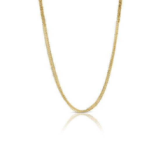 Toscano Multi-Strand Section Necklace 14K