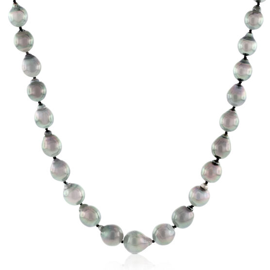 Cultured South Sea Tahitian Pearl Strand, Sterling Silver