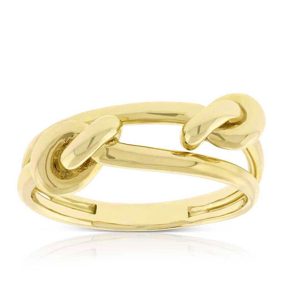 Toscano Double Love Knot Ring 14K, Size 7