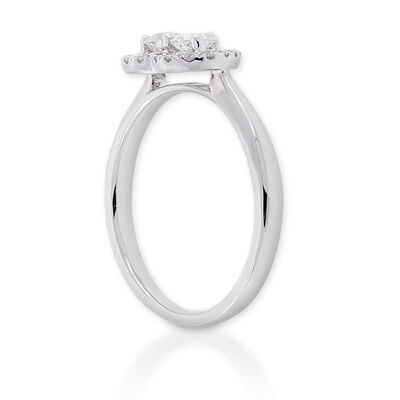 Diamond Heart Ring 14K