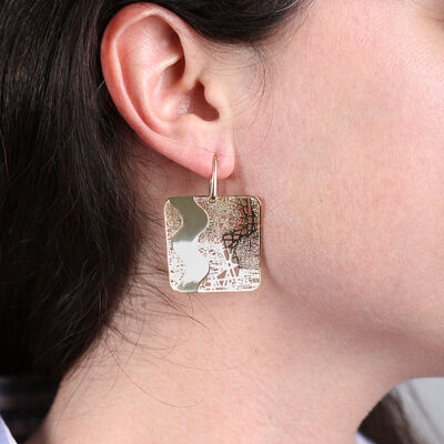 Toscano Wave Mesh Earring 14K