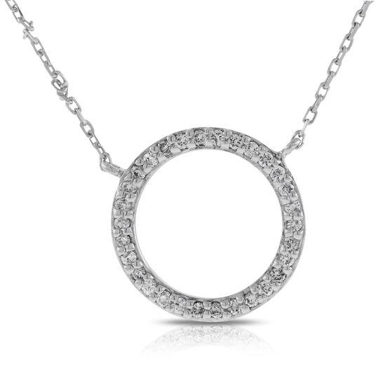 Diamond Circle Necklace 14K
