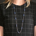 "Lisa Bridge Kyanite Long Necklace, 36"""