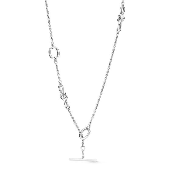 PANDORA Knotted Heart T-Bar Necklace